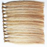 De in het groot Uitbreiding van het Menselijke Haar van het Uiteinde van het Haar van de Kleur van de Piano Natuurlijke Getrokken Braziliaanse Vlakke
