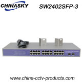 24 портов RJ45 + 2 SFP Gigabit Ethernet Switch 1000 Мбит/сек (SW2402SFP-3)