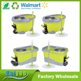 360 espanador, pedal pequeno do pé da cubeta do espanador da limpeza verde