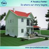 Casa de aço clara da casa de campo do andar do luxo dois