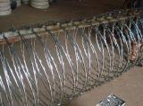 안전은 직류 전기를 통한 면도칼 가시철사를 반대로 올라간다