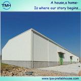 Estructura de acero del almacén prefabricado en lugar de trabajo