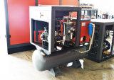 Compresseur d'air de vis de combinaison de réservoir pour l'inducteur en verre