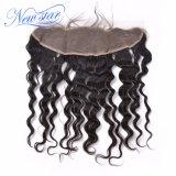 Frontal ondulato allentato del merletto dei capelli del Virgin con i capelli del bambino