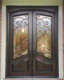 Porta de entrada feita sob encomenda bonita superior quadrada do ferro feito para a casa