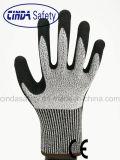 Нитрил покрыл перчатки безопасности отделки Sandy работая