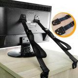 頑丈TV及び壁の家具の安全ストラップのアンカーを反ひっくり返しなさい