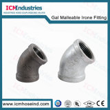 Malleable Galvanized Iron Fitting Pipe 120 45 deg Elbow for Toilets Fittings Pipe
