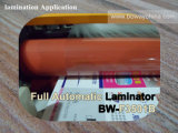 laminador termal caliente de la calefacción Heated automática de la máquina de la laminación del papel de cubierta de libro de 350m m que lamina por completo