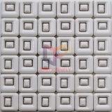 空の正方形の黒い組合せの白い古典的な陶磁器のモザイク(CST189)