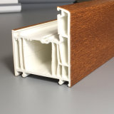 Profil en bois d'UPVC stratifié par Texturer pour Windows et des portes