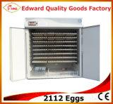 2112個の卵の定温器の自動卵のふ化場機械価格
