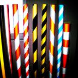 Le rouge et jaune Slant Stipe Attention Marquage grade commercial 3200 bâches réfléchissant en acrylique