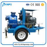 Pompe per acque luride orizzontali mobili del motore diesel