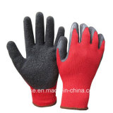 Хлопок гильзы с покрытием из латекса безопасности рабочие перчатки