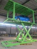 Doble tijera plataforma hidráulica de la plataforma del elevador de coche con CE