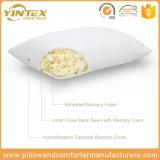 Tela de bambú Shreded espuma de memoria almohada