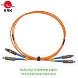 Mu PC / Upc Simplex Duplex Singlemode Cordon de connexion multimédia à fibre optique