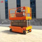 300kg de 6-12m China mejor calidad de la Escalera de tijera Autopropulsada hidráulico de elevación con Ce Certificación ISO