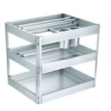 Алюминий выдвиньте лоток на кухне корзину (DL200)