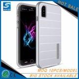 高い保護反スクラッチiPhone Xのための耐震性の銀製の携帯電話カバー