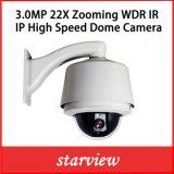 3.0MP 22X IP CCTV WDR Cámara domo de alta velocidad