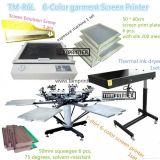 Máquina de impressão da tela do t-shirt de TM-R6k 6-Color