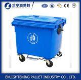 Grande caixote de lixo colorido 240L 660L 1100L com rodas