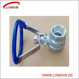 Gesundheitlicher Edelstahl Two Piece Threaded Ball Valve mit Oval Handle
