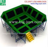 Sosta dell'interno del trampolino del più nuovo giocattolo dei bambini con il gioco di pallacanestro (014)