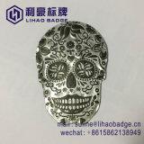 Custom Vintage череп форму чистого олова винной этикетке с 3m