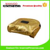 Kundenspezifischer Goldfarbe PU-reizender mini ökonomischer kosmetischer Beutel