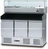 Salada de tampa de vidro Exibir frigorífico S903