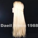자연적인 사람의 모발 긴 여자 머리 가발