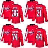 2018 Marca Nova mens Sade Kids Washington Capitais 44 Brooks Orpik 74 João Carlson 36 Connor Hobbs 21 Lucas Johansen Vermelho qualquer nome personalizado & N. Hockey camisolas