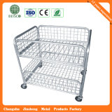 Wheels를 가진 도매 Steel Industry Wire Mesh Container