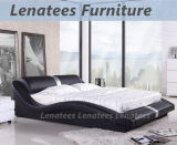 Самомоднейшая кожаный кровать спальни мебели A070