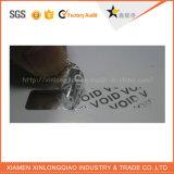 Collant fait sur commande d'hologramme d'impression d'étiquette de vide d'argent de garantie pour l'Anti-Contrefaçon
