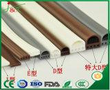 Strisce di legno flessibili del sigillo alla porta del PVC