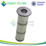 Zak van de Filter van de Lucht van het Stof van de Plooi van Forst de Industriële Op hoge temperatuur