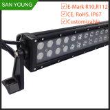 20黒いカバー10-30V DC LEDのライトバーが付いているインチ120W LEDのライトバー