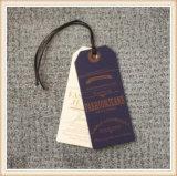 Hang одежды картона способа маркирует таможню с логосом