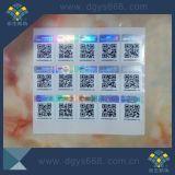 Autocollant holographique à un numéro unique de code à barres