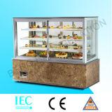 4 квадратного стеклянного слоя холодильника торта