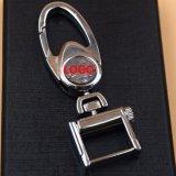 Kc_M_834 цинкового сплава металлический логотип сувенирные цепочки ключей из натуральной кожи