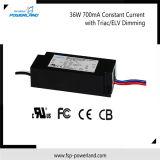 Driver corrente costante del triac/ELV Dimmable LED di approvazione 36W 700mA del Ce