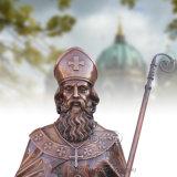 St 패트릭의 청동색 주물 동상