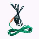 Водоустойчивый кабель топления завода PVC с термостатом температуры