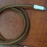Кожаный кабель данным по и обязанности USB для черни Samsung