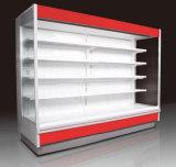 Abra o resfriador de Visualização Vertical Refrigerado Mostruário de supermercado Multideck Comercial